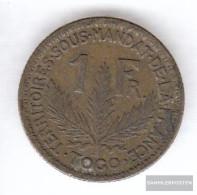 Togo 2 1924 Very Fine Aluminum-Bronze Very Fine 1924 1 Franc Laureate - Togo