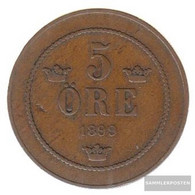 Sweden Km-number. : 757 1895 Very Fine Bronze Very Fine 1895 5 Öre Gekröntes Monogram - Sweden