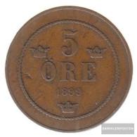 Sweden Km-number. : 757 1899 Very Fine Bronze Very Fine 1899 5 Öre Gekröntes Monogram - Suède
