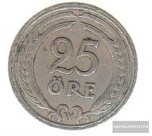 Sweden Km-number. : 798 1940 Very Fine Nickel-Bronze Very Fine 1940 25 Öre Gekröntes Monogram - Sweden