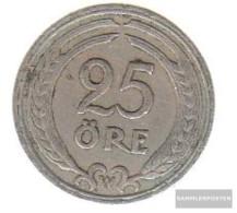 Sweden Km-number. : 798 1941 Very Fine Nickel-Bronze Very Fine 1941 25 Öre Gekröntes Monogram - Sweden