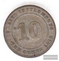 Straits Settlements Km-number. : 29 1918 Very Fine Silver Very Fine 1918 10 Cents George V. - Malaysie