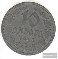 Serbia Km-number. : 33 1943 Extremely Fine Zinc Extremely Fine 1943 10 Dinara Double Eagle - Serbia