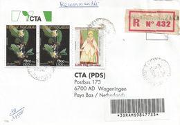 Madagascar 2004 Ambatondrazaka Endemic Tree Schizolaena Tampoketsana Queen Registered Cover - Madagaskar (1960-...)