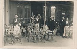 AUTEUIL  - CARTE PHOTO - TERRASSE DE CAFE - Bar, Alberghi, Ristoranti