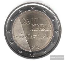 Slovenia 2016 Stgl./unzirkuliert Reprint: 1 Million. Stgl./unzirkuliert 2016 2 Euro 25 Years Independence - Slovenia