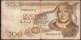 """Bolivia 1986 (1996) V.G.-F.  Serie """"D""""  200 Bolivianos. 2 Sc. See Desc. - Bolivia"""