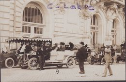 TOURS : TAXIS  . CONGRES PREHISTORIQUE . 1910 . CARTE PHOTO . - Tours