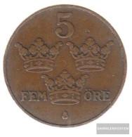 Sweden Km-number. : 779 1914 Very Fine Bronze Very Fine 1914 5 Öre Gekröntes Monogram - Sweden