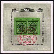 1943 Zu W 18 / Mi Bl 10 GENÈVE Obl. 1er Jour EXPO. PHIL. NATIONALE 17.9.43 SBK 60,- Voir Description - Bloques & Hojas