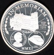 La Piece De L'annee 2011, IN MEMORIAM, Notre Dame De Reims, Marie Curie, TGV, Argent 900/00 - Monnaies & Billets