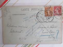 Carte Postale Oignies ; Cachet Inconnu A L Adresse Des Facteurs A Vichy Le Facteur Chef - Postmark Collection (Covers)