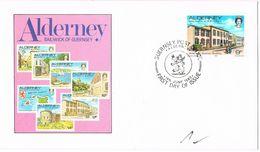 26585. Carta F.D.C. ALDERNEY (Bailiwick Of Guernsey) 1983 - Alderney