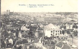 Bruxelles - CPA - Panorama - Saint-Gudule Et Parc - Panoramische Zichten, Meerdere Zichten