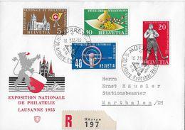 HEIMAT BERN → 1955 Mürren R-Brief Mit Stempel 20.Arlberg-Kandahar-Rennen - Switzerland