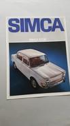 Simca 1000 1968 Depliant Originale Auto - Genuine Car Brochure - Automobili