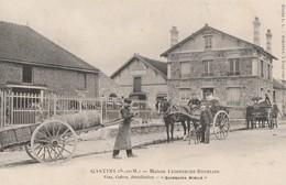 """GASTINS - MAISON LIGONESCHE-BOURLIER - """"QUINQUINA MIMILE"""" SUPERBE CARTE TRES ANIMEE - ATTELAGES - TONNEAUX - 2 SCANNS - - France"""
