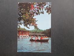VR China 1972 / 73 Riesenpanda / Asiatische Tischtennismeisterschaften. Postcard Kwangchow. Paddelboot - Briefe U. Dokumente