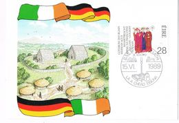 26595. Tarjeta Maxima BAILE ATHA CLIAT (dublin) Eire 1989. Martyrdom Franconian Apostles - Cartoline Maximum