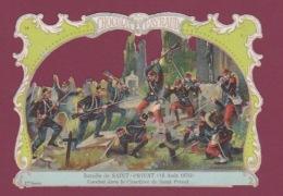081217 -  CHROMO CHOCOLAT PAYRAUD - MILITARIA Guerre 1870 Bataille De SAINT PRIVAT Cimetière G GERMAIN - Chocolate