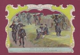 081217 -  CHROMO CHOCOLAT PAYRAUD - MILITARIA Guerre 1870 Siège De PARIS Garde Nationale Garant Les Remparts G GERMAIN - Chocolate