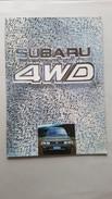 Subaru 4WD Gamma Modelli Auto 1988 Depliant Originale Auto - Genuine Car Brochure - Automobili