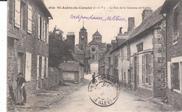 CPA SAINT-AUBIN-LE-CORMIER (35) LA RUE LA GARENNE Et L' EGLISE - ANIMEE - France