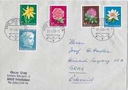HEIMAT BERN → 1964 Pro Juventute Satzbrief Interlaken Nach Graz - Lettres & Documents