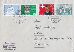 HEIMAT BERN → 1965 Werbe- Und Gedenkmarken, Satzbrief Interlaken Nach Graz - Schweiz