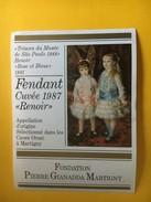5927 - Renoir Cuvée 1987 Fondation Pierre Gianadda Martigny Suisse  2 étiquettes - Art