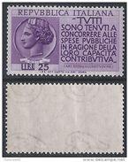 Italia Italy 1954 Redditi Sa N.737 Nuovo Integro MNH ** - 1946-60: Nuovi