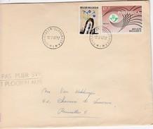 Nr 1435 Op Brief - Entiers Postaux