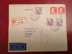 Stockholm Gorinchem Censure WWII 1943 Valutakontroll Postverket (signé Roumet?) - Other