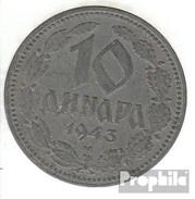 Serbie Km-no. : 33 1943 Très Déjà Zinc Très Déjà 1943 10 Dinara Double-adler - Serbie