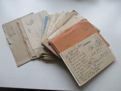 Feldpost 2. WK 64 Belege / Karten Usw. Tarnstempel / Holland Luftgau Amsterdam / Ukraine Usw. Viele Mit Inhalt! - Briefmarken