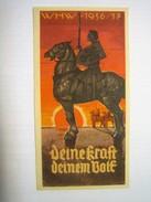 Winterhilfswerk (WHW)  Türplakette Februar 1937,  Tieste 623.02, 80 X 150 Mm - Documents