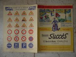 PROTEGE  CAHIER  SUCCES   CHALONS SUR MARNE  CODE DE LA ROUTE  MOTO  Publicite - Publicités