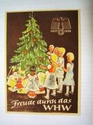 Winterhilfswerk (WHW)  Türplakette Dezember 1937,  Tieste 627.02,  80 X 110 Mm - Documents