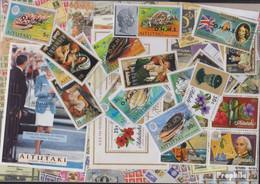 Aitutaki Briefmarken-100 Verschiedene Marken - Aitutaki