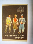Winterhilfswerk (WHW)  Türplakette Februar 1938,  Tieste 629.02,  80 X 10 Mm - Documents