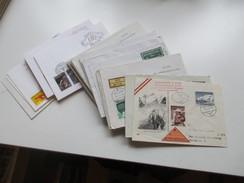 Österreich 1954 - 70er Jahre 53 FDC / R-Briefe In Die DDR Gelaufen! Satzbriefe / Sondertarif Tirol / Christkindl Usw. - Briefmarken