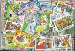 Anguilla Briefmarken-100 Verschiedene Marken - Anguilla (1968-...)
