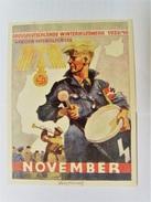 Winterhilfswerk (WHW)  Türplakette November 1939,  Tieste 638.4  Mit Zudruck!   84 X 113 Mm - Documents