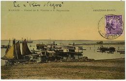 Manaos Amazonas Praias De S. Vicente E S. Raymundo Stamped But Not Postally Used - Manaus