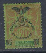 Nlle Calédonie N° 74 X  : Cinquantenaire Présence Française : 20 C. Trace De Charnière Sinon TB - Nouvelle-Calédonie