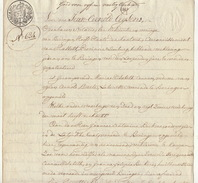 Acte Notaire 1824 Famille Ceunen Beckers De Beringen Beeringen Limbourg - Manuscripts