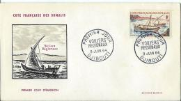 COTE DES SOMALIS 1964 - YT N° 321 FIRST DAY COVER - Lettres & Documents