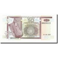 Burundi, 50 Francs, 2001-08-01, KM:36c, NEUF - Burundi