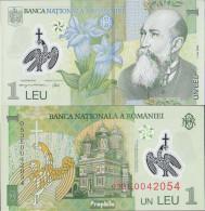 Rumänien Pick-Nr: 117a Bankfrisch 2005 1 Leu (plastic) Blumen - Roumanie