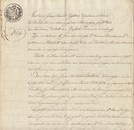 Acte Notaire 1824 Famille Lambrigts Beckers De Beringen Beeringen Limbourg - Manuscripts